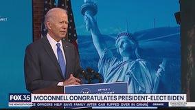 McConnell congratulates President-elect Joe Biden
