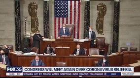 Congress will meet again over coronavirus relief bill