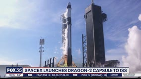 Dragon-2 cargo capsule carries supplies to Space Station