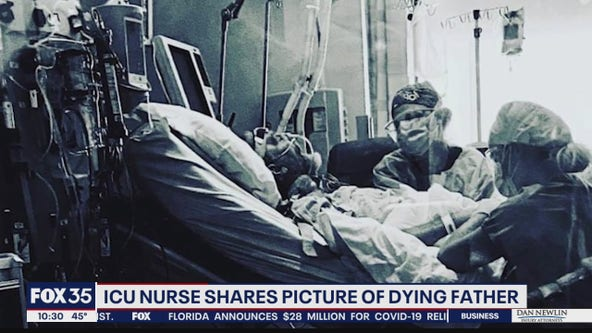 ICU nurse shares picture of dying father