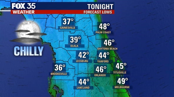 Bundle up! Coldest air of the season arrives in Central Florida