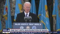 One day until inauguration of Joe Biden