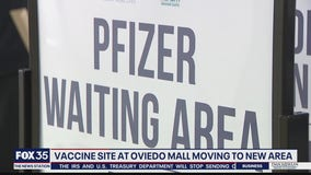 Vaccine site at Oviedo Mall moving to new area
