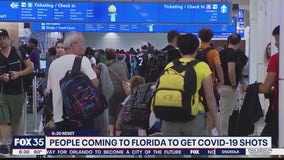 Tourists coming to Florida for COVID-19 vaccine