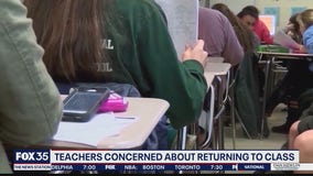 Teachers concerned about returning to class