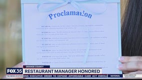 Orlando restaurant manager honored for reporting alleged child abuse