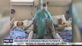 Many coronavirus patients require lengthy rehabilitation