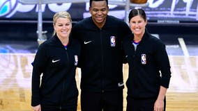 2 female referees officiate same NBA game for 1st time ever