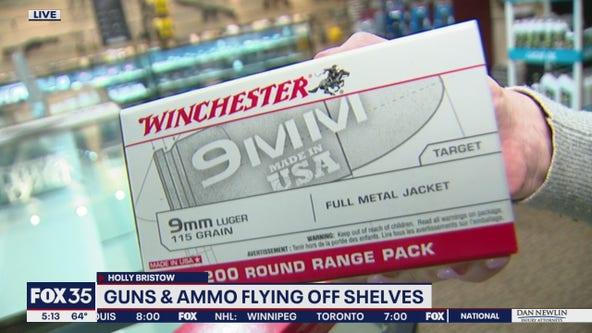 Guns, ammunition flying off shelves