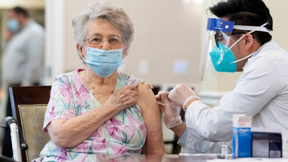 Orange County firefighters bring COVID-19 vaccine to seniors 65+