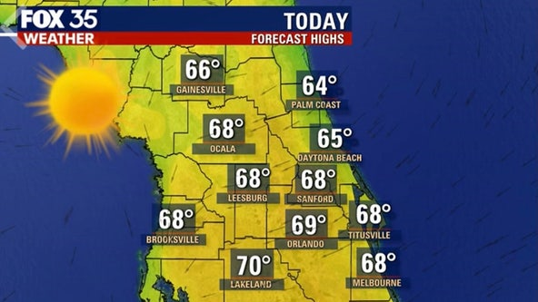 Cool day ahead for Central Florida with a warm up on the way