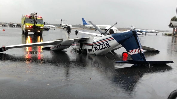 Tornado in Tallahassee flips plane, shuts down airport, NWS says