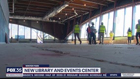 Construction on Winter Park's new Library and Events Center progressing