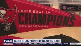 Bucs championship gear on sale