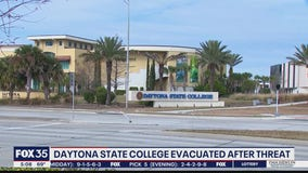 Daytona State College evacuated after threat