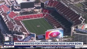 Man charged with flying drone near Super Bowl location