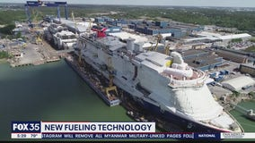 New fueling technology used for cruise ship