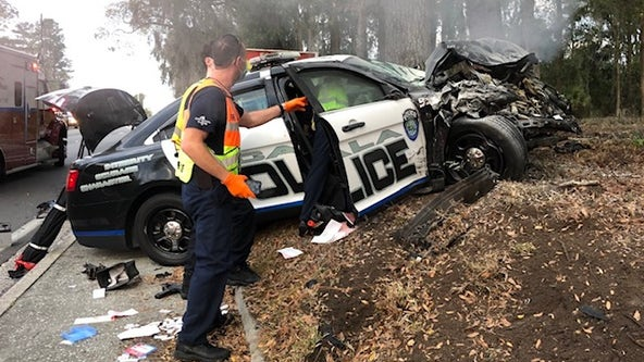 Officer involved in crash with driver in Ocala