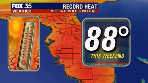 Record-breaking heat possible for Central Florida this weekend