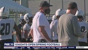 Knights open spring practice under Malzahn
