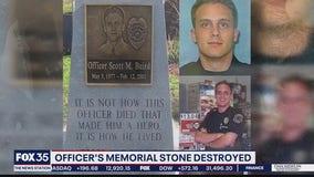 Gainesville Police officers 'devastated' after memorial stone for fallen officer destroyed