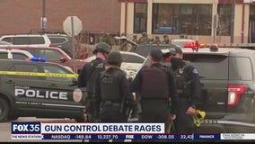 Gun control debate rages following 2 mass shootings