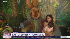 Easter bunny at ICON Park in Orlando | David Martin Live