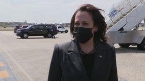 Vice President Kamala Harris arrives in Florida for vaccine site visit