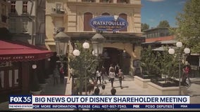 Big news out of Disney shareholder meeting