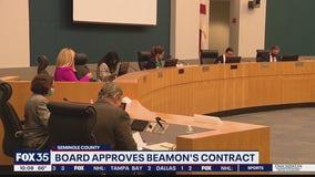 Seminole County School Board approves Beamon's contract