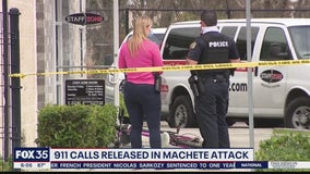 911 calls released in machete attack