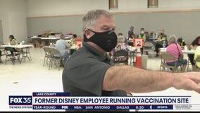 Former Disney employee running vaccination site