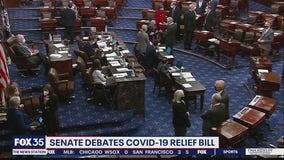 Senate debates COVID-19 relief bill