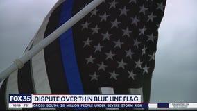 Dispute over Thin Blue Line Flag
