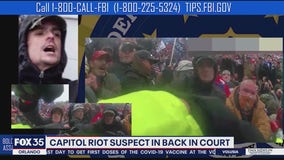 Capitol riot suspect appears before judge