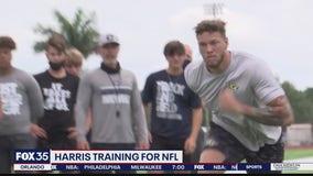 Jacob Harris training for NFL
