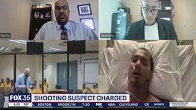Sanford shootout suspect makes first appearance from hospital bed