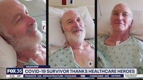 COVID-19 survivor thanks healthcare heroes