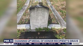 Osceola veteran working to clean up gravesite