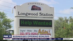 Businesses offering bonuses to fill positions