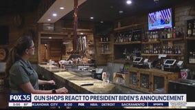 Gun shop owner reacts to President Biden's executive action
