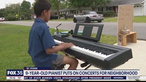 Pianist, 9, puts on concerts in St. Cloud neighborhood