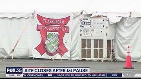 FEMA site closes after Johnson & Johnson vaccine pause