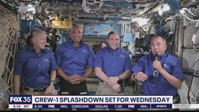 Crew-1 splashdown set for Wednesday