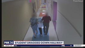 Parents say child was dragged down school hallway by employees