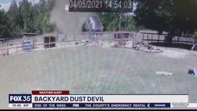 Backyard dust devil caught on camera in Apopka