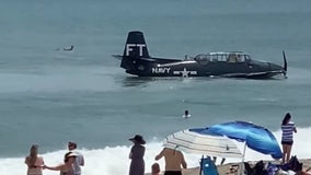 WATCH: Plane goes down during Cocoa Beach Air Show, lands in ocean