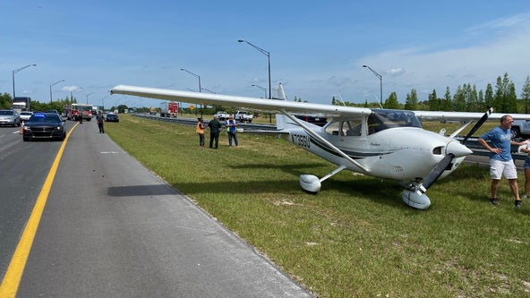 Small plane lands on Central Florida roadway