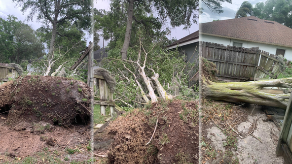 Strong storms cause damage across Central Florida on Saturday