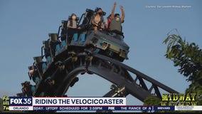 Riding the Jurassic World VelociCoaster